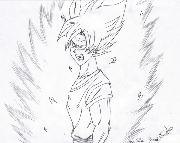 comment dessiner sangoku super sayen 10
