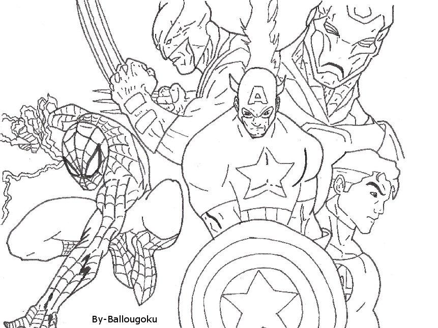 team marvel - Dessin Marvel