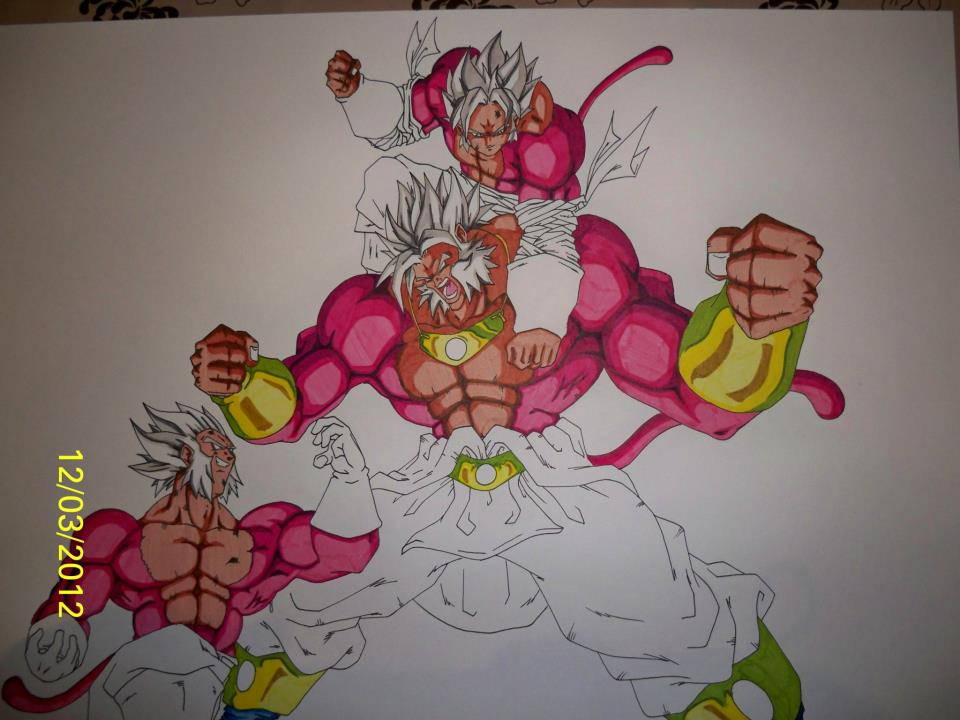 Supafan union gallery style 77 - Coloriage broly ...