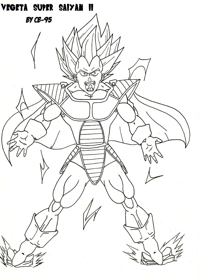Comment dessiner vegeta super sayen - Sayen legendaire ...