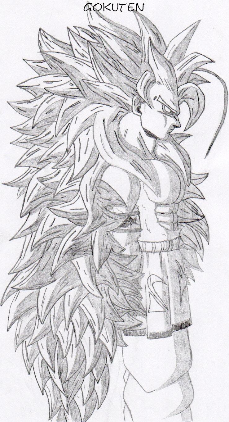 Comment dessiner sangoku super sayen 5 etape par etape - Dessiner dragon ball z ...