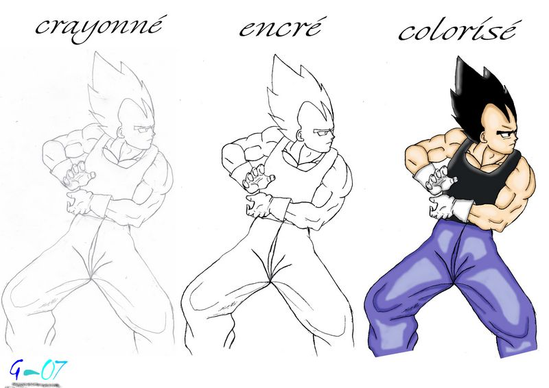 Comment dessiner gogeta 4 etape par etape - Comment dessiner dbz ...